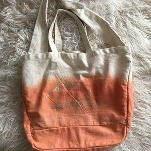 NWOT Free People Dip Dye Ombré Peach Beach Bag